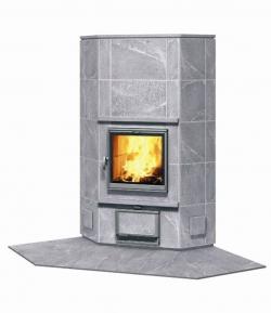 Угловая печь-камин, аккумулирующий тепло Туликиви KTU1410/92 (Tulikivi, Финляндия)