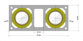 Дымоход ШИДЕЛЬ UNI с вентканалом (Schiedel, Германия) D=140/140 мм