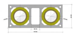 Дымоход ШИДЕЛЬ UNI с вентканалом (Schiedel, Германия) D=140/180 мм