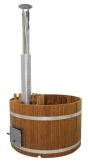 Купель KIRAMI из термодерева с выносной печью Original Woody M Side TW (Кирами, Финляндия)