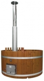 Купель KIRAMI из термодерева с выносной печью Original Woody L Side TW (Кирами, Финляндия)