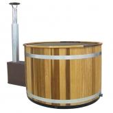 Купель KIRAMI с выносной печью Comfort Cozy M Cube RedCedar, Gray (Кирами, Финляндия)