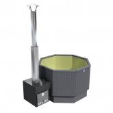 Купель KIRAMI с выносной печью Premium Optima S Cube PL StoneGray, Olive (Кирами, Финляндия)