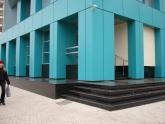 Уличная лестница из гранита Absolute Black в офисном здании