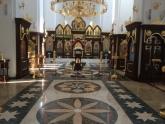 Полы из мрамора в Храме Поволжсого православного  и нститута