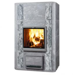 Печь-камин, аккумулирующий тепло Туликиви Harmaja/L (Tulikivi, Финляндия)