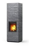 Печь-камин, аккумулирующий тепло Туликиви Kammi 18 Grafia (Tulikivi, Финляндия)